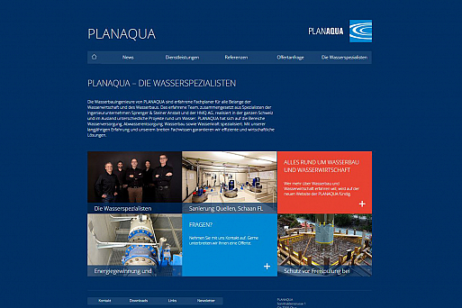 Neue Website PLANAQUA
